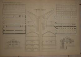 Plans De Chais Construits Pour MM. Kunkelmann Et Cie à Reims Et MM. Moët Et Chandon à Epernay. 1884. - Technical Plans