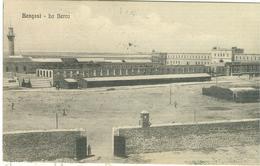 """BENGASI (LIBIA),LA BERCA,B/N -ANIMATA-TIMBRO """"16° REGGIMENTO FANTERIA-2° BATTAGLIONE""""1914-PER NAPOLI - Guerra 1914-18"""