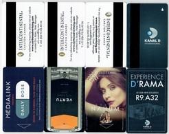 4x Carlton Inter-Continental Cannes. --key Card, Room Key, Schlusselkarte, Hotelkarte - Hotel Keycards