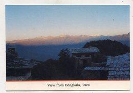 BHUTAN - AK 350814 Paro - View From Dongkala - Butan