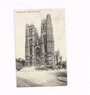 """Eglise Et Rue Sainte-Gudule.Expédié En Feldpost à Karlsruhe.""""Dépot 4 Batt. Ciney,Belgique"""" - Monumenten, Gebouwen"""