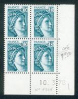 Lot B497 France Coin Daté Sabine N°1966 (**) - Unclassified