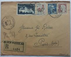 ALGER-RUISSEAU.  Enveloppe En Recommandé ALGER-RUISSEAU Datée 19 Juin 1962. - Algerien (1924-1962)