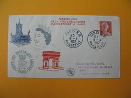 FDC 1957  France N° 1115   Visite Des Souverains Anglais    Cachet  Paris - FDC