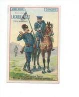 Armée Russe Cavalerie Pub Literie Sommiers LACAQUE-LIGOT Le Mans Bien 110 X 75mm Didactique  2 Scans (Enchères Anonymes) - Trade Cards
