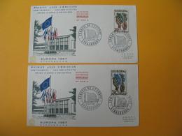 FDC 1957  France N° 1122 Et 1123  Europa  1957      Cachet  Paris - FDC