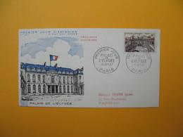 FDC 1957  France N° 1126  Palais De L'Elysée       Cachet  Paris - FDC