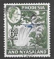 1959 Queen Elizabeth, 6d, Used - Rhodesia & Nyasaland (1954-1963)