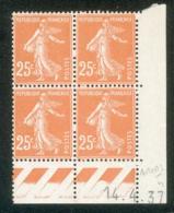 Lot C442 France Coin Daté Semeuse N°235(**) - Coins Datés