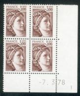 Lot C785 France Coin Daté Sabine N°1979 (**) - Coins Datés