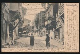 KONSTANTINOPEL - RUE A STAMBOUL   1904  2 SCANS - Turkije