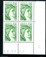 Lot C882 France Coin Daté Sabine N°2101 (**) - Coins Datés