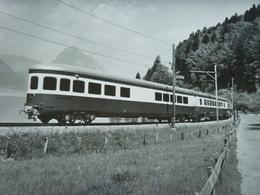 Rare! Belle Photo Ancienne Train Gare Mexique Mexico Chemin De Fer - Trains