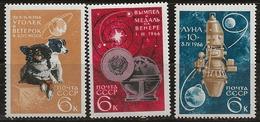 Russie 1966 N° Y&T :   3120 à 3122 ** - 1923-1991 URSS