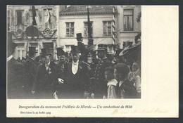+++ CPA - Evènement - Brussel - BERCHEM 1905 - Inauguration Du Monument F. De Mérode...Guerre 1830   // - Berchem-Ste-Agathe - St-Agatha-Berchem