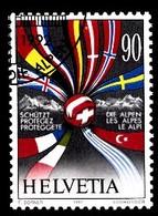 Suisse 1992 Mi.Nr: 1477 Schützt Die Alpen  Oblitèré / Used / Gebruikt - Gebruikt
