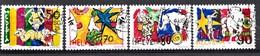 Suisse 1992 Mi.Nr: 1478-1481 Zirkuswelt  Oblitèré / Used / Gebruikt - Gebruikt