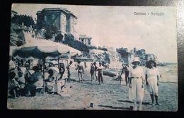 Nettuno (Roma) - Spiaggia Animata - Viaggiata 1924 - CG - Andere Steden