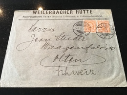 Luxembourg Lettre Weilerbach Hütte - 1906 Guillaume IV