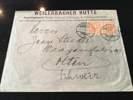 Luxembourg Lettre Weilerbach Hütte - 1906 Willem IV
