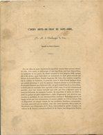 M. DESCHAMPS De PAA, L'ancien Hôtel De Ville De Saint-Omer 1850 - Livres, BD, Revues