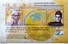 INDIA 2004 Trigonometrical Survey MINIATURE SHEET 10 Nos. M/S MNH - India