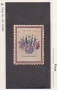 France WWI 6 Flags Pro Patria Jusquaubout Stamps Vignette Poster Stamp - Military Heritage