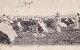 TUNISIE. BIZERTE. CPA. CAMPEMENT DES ZOUAVES. ANNÉE 1905 - Tunisia