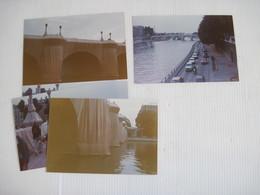 75 PARIS 4 Photos Pont Neuf Emballé Par Christo   TBE - Lieux