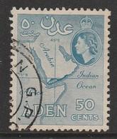 Aden/Yemen 1953 -1959 New Daily Stamps 50 Blue SW 54  * MM - Yemen