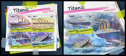 CENTRAL AFRICA 2019 - Titanic, M/S + S/S Official Issue - Central African Republic