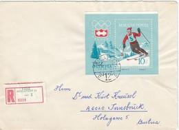 1964INNSBRUCK - Ungarn - MiNr: 1999 Block 40A Auf Rekobeleg   Used - Winter 1964: Innsbruck