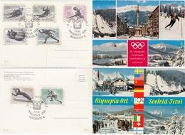 1964INNSBRUCK - Österreich - MiNr: 1136-1142 Komplett Mit Plattenfehler   Used - Winter 1964: Innsbruck