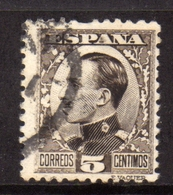 SPAIN ESPAÑA SPAGNA 1930 KING ALFONSO XIII RE CENT. 5c USATO USED OBLITERE' - 1889-1931 Regno: Alfonso XIII
