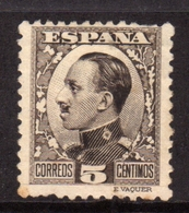 SPAIN ESPAÑA SPAGNA 1930 KING ALFONSO XIII RE CENT. 5c MLH - Nuovi