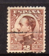 SPAIN ESPAÑA SPAGNA 1930 KING ALFONSO XIII RE CENT. 2c USATO USED OBLITERE' - 1889-1931 Regno: Alfonso XIII