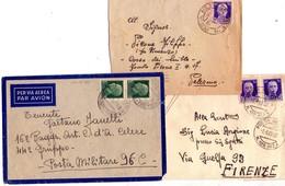 ITALIA   Storia Postale Di Posta Militare  Lotto Di 3 Buste  , 86 + 96 + 125 Sez. A. - 1900-44 Vittorio Emanuele III