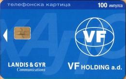 Yugoslavia - Serbia, Test, Expo Card, Landis & Gyr - VF Holding A.d., 100U, 25 Ex?, 1998, Mint/Unused - Jugoslawien