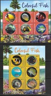 MARSHALL ISLANDS,  2019, MNH, FISH, COLOURFUL FISH, 2 SHEETLETS, HIGH FV - Autres