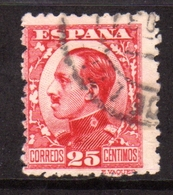 SPAIN ESPAÑA SPAGNA 1930 KING ALFONSO XIII RE CENT. 25c USATO USED OBLITERE' - 1889-1931 Regno: Alfonso XIII