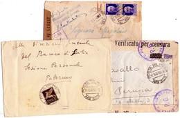 ITALIA   Storia Postale Di Posta Militare  Lotto Di 3 Buste  , 181 + 303 +303  Vedere 1 Foto - 1900-44 Vittorio Emanuele III