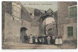 66 Baixas 1908 Rare Porte Dom Brial TB Animée .Editeur Brun N°1148 Voyagé Dos Scanné - France