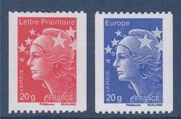 = Marianne De Beaujard Gommé TVP Rouge Et Bleu, 4572 Et 4573 Type émission Du 01.07.2011 Roulettes 234 Et 400 Neuves, - Roulettes