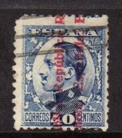 SPAIN ESPAÑA SPAGNA 1931 KING ALFONSO XIII RE OVERPRINTED REPUBBLICA ESPANOLA CENT. 40c USATO USED OBLITERE' - 1889-1931 Regno: Alfonso XIII