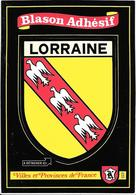CARTE -AUTOCOLLANT-ECUSSON ADHESIF-KROMA-LORRAINE-TBE - Stickers