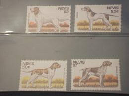 NEVIS - .... CANI 4 VALORI - NUOVO(++) - St.Kitts E Nevis ( 1983-...)