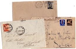 ITALIA   Storia Postale Regno   Lotto Di 3 Buste - 1900-44 Vittorio Emanuele III