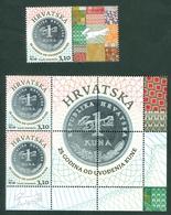 Croatia 2019 Anniversary Of Kuna Monetary Unit 25 Years Label From Croatian Sheet Money - Croacia