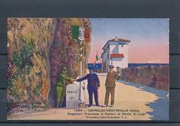 Grimaldi-Ventimiglia (Italia) Doganieri Francese E Italiani Al Ponte S. Luigi (Frontera Italo-Francese) - Imperia