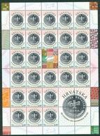 Croatia 2019 Anniversary Of Kuna Monetary Unit 25 Years Label From Croatian Sheet Money - Croatia
